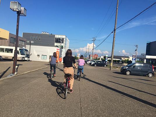 女性専用合宿免許・合宿生日記DAY5~自転車で散歩